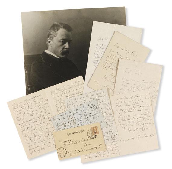 Hugo Wolf - 27 Autographen an verschiedene Empfänger