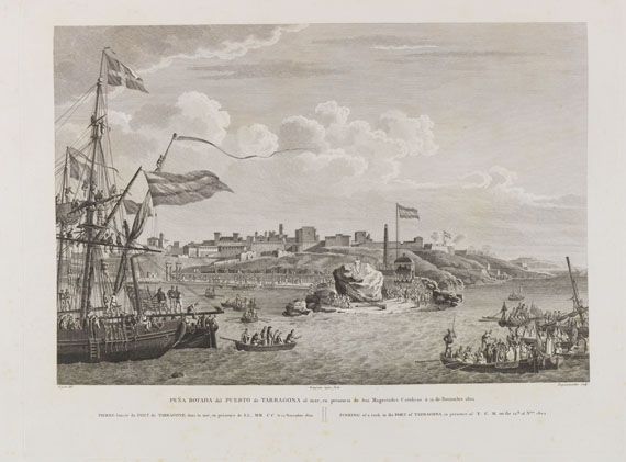 Alexandre Laborde - Voyage pittoresque de l'Espagne. 2 Bände in 4