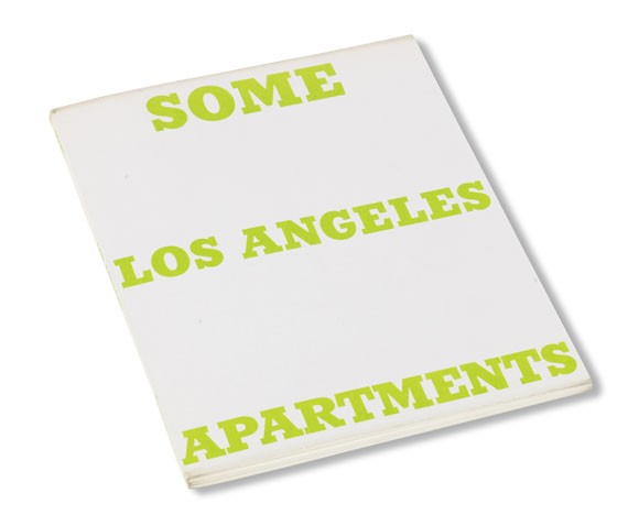 Edward Ruscha - Some Los Angeles apartments -