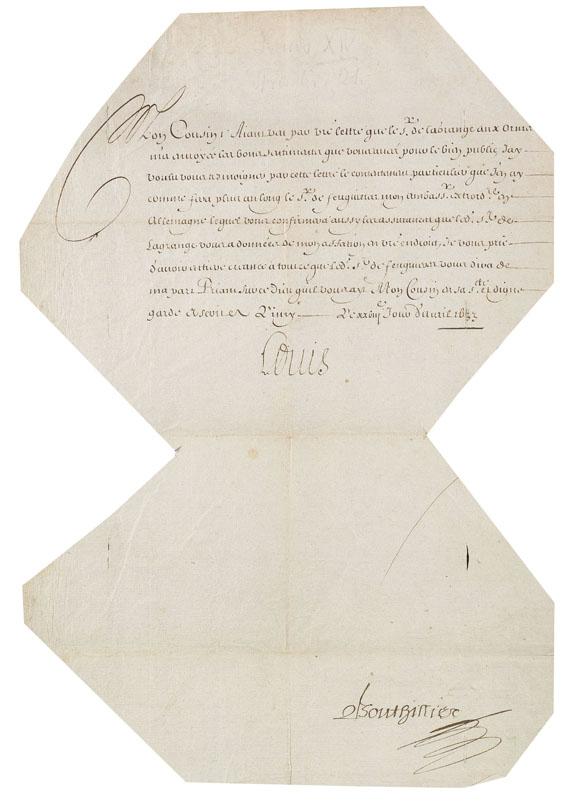 Französische Könige - 10 Schreiben und Urkunden frz. Könige