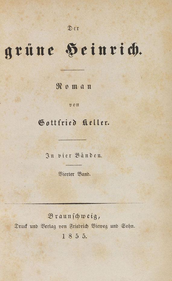 Gottfried Keller - Der grüne Heinrich