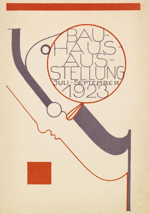 Oskar Schlemmer - Postkarte Bauhaus-Ausstellung 1923