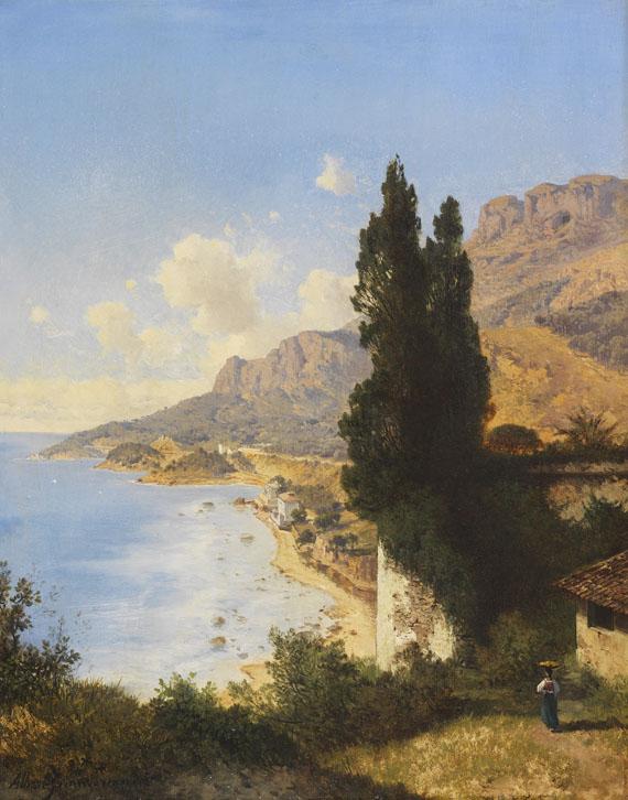 Albert August Zimmermann - Partie von Monaco bei Nizza