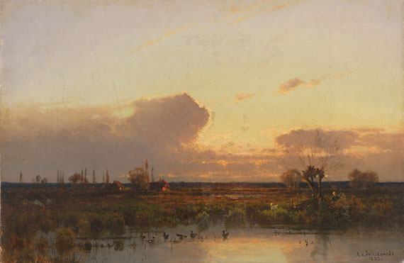 Aleksander Swieszewski - Dachauer Landschaft im Abendrot