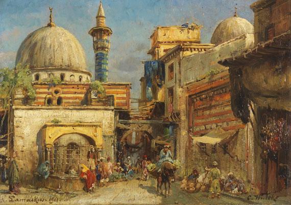 Carl Wuttke - Volksleben in Damaskus