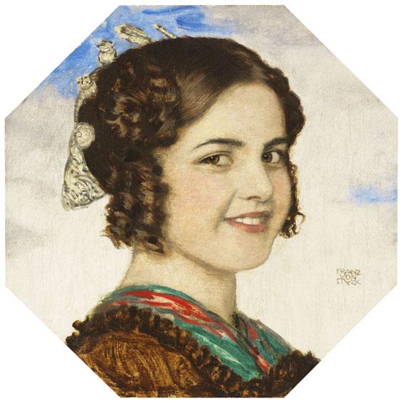 Franz von Stuck - Porträt der Tochter Mary