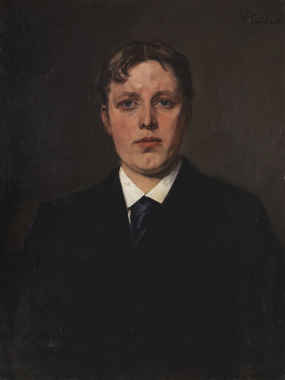 Wilhelm Trübner - Bildnis Nikolaus Trübner, Bruder des Künstlers