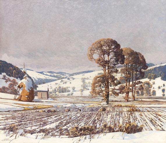 Josef Stoitzner - Wechselgebirge im Vorfrühling