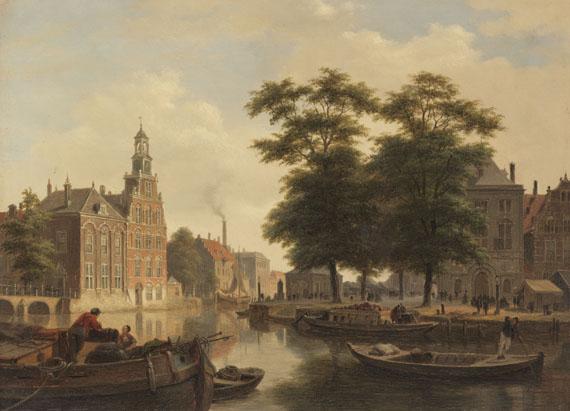Bartholomeus Johannes van Hove - Sommerliche Stadtansicht