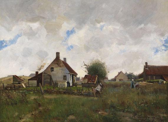 Helmuth Liesegang - Landschaft mit Bauernhäusern