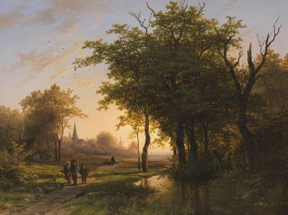 Johann Bernhard Klombeck - Waldlandschaft mit Teich