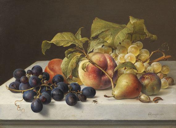 Johann Wilhelm Preyer - Früchtestillleben