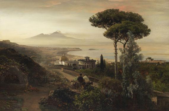 Oswald Achenbach - Blick auf den Vesuv