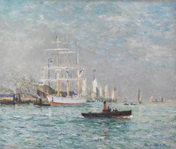 Maxime Emile Louis Maufra - Entré d'un trois-mats, Le Havre