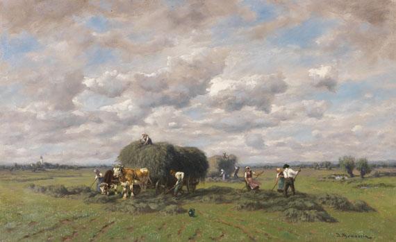 Désiré Thomassin - Bei der Heuernte