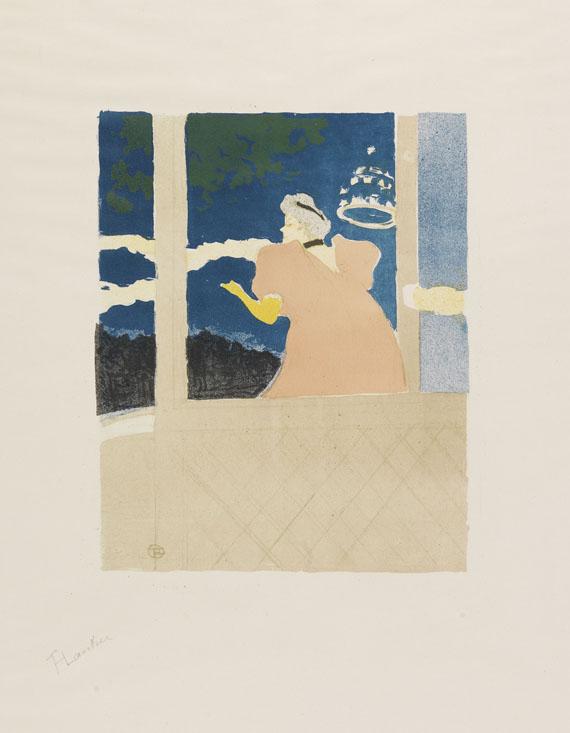 Henri de Toulouse-Lautrec - Aux Ambassadeurs - Chanteuse au café-concert