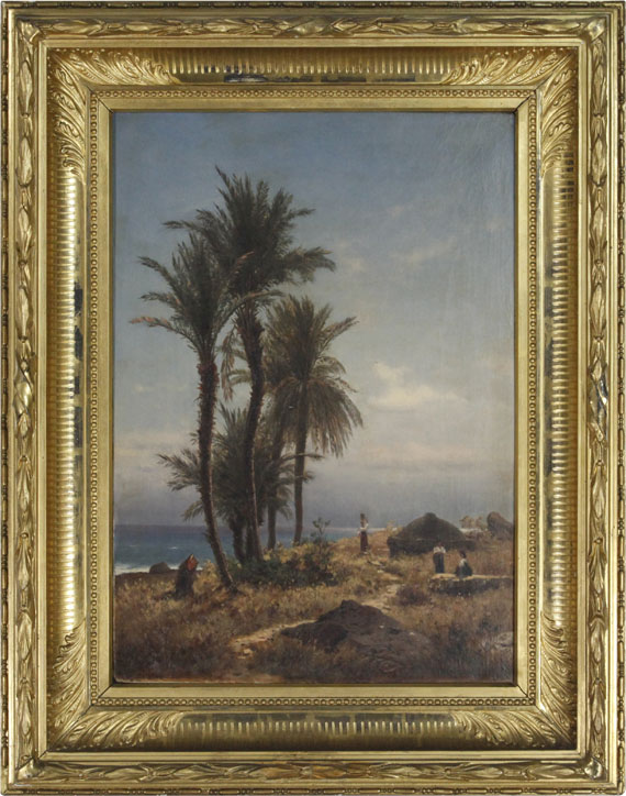 Michael Haubtmann - Mediterrane Landschaft - Rahmenbild