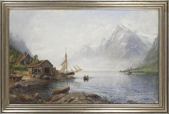 Anders Monsen Askevold - Norwegischer Fjord (Sognefjord?) - Rahmenbild
