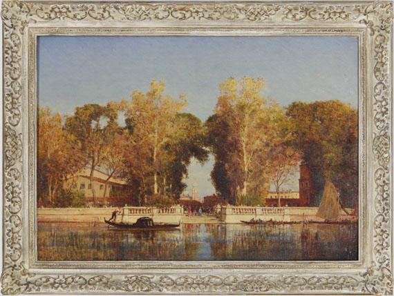 Félix Ziem - Die französischen Gärten in Venedig - Frame image