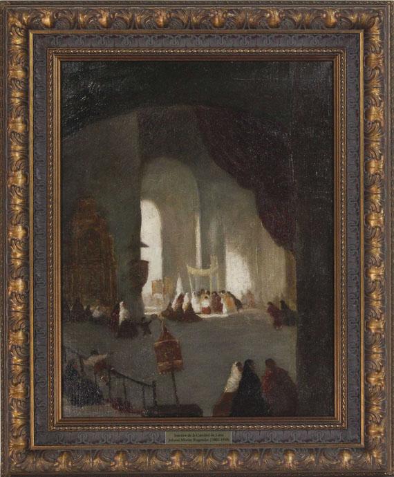 Johann Moritz Rugendas - Innenansicht der Kathedrale von Lima - Rahmenbild