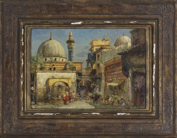 Carl Wuttke - Marktstraße in Damaskus - Frame image