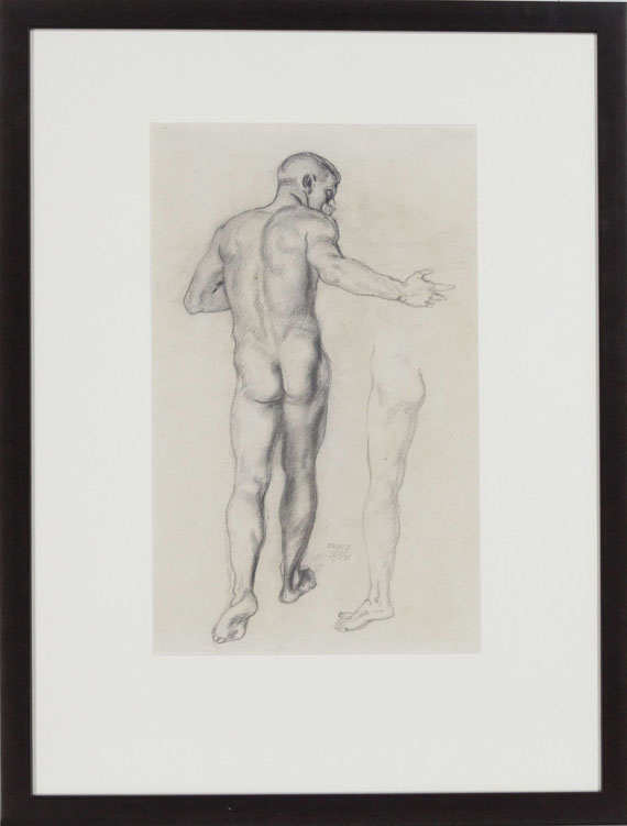 Franz von Stuck - Männlicher Rückenakt - Rahmenbild