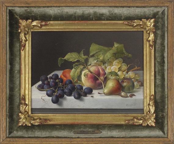 Johann Wilhelm Preyer - Früchtestillleben - Rahmenbild