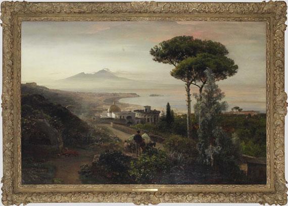 Oswald Achenbach - Blick auf den Vesuv - Rahmenbild