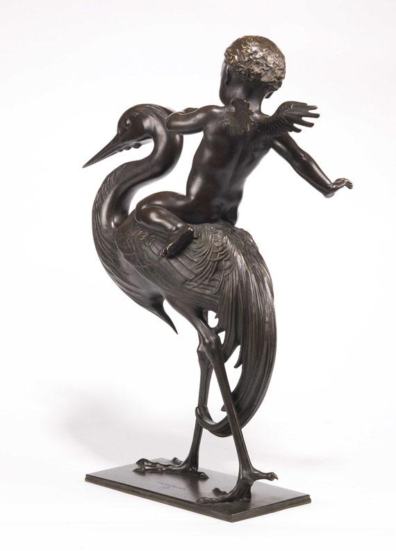 Carl Paul Jennewein - Cupido und Kranich - Back side