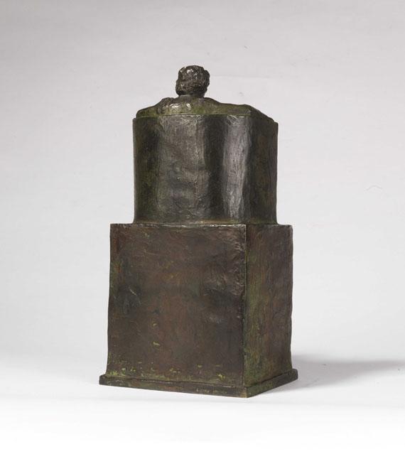Franz von Stuck - Beethoven (thronend) - Rückseite