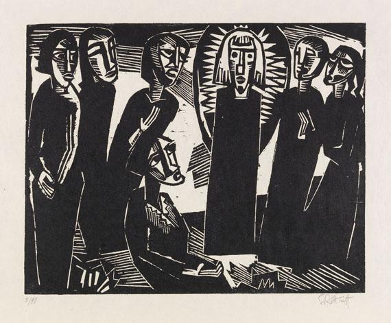 Karl Schmidt-Rottluff - Christus (Kristus) unter den Frauen