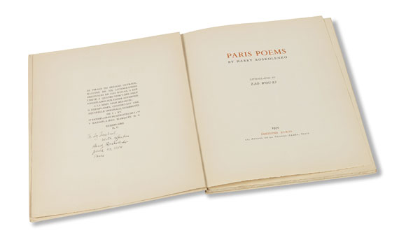 Zao Wou-Ki - Paris Poems -