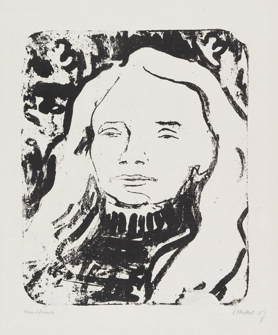Erich Heckel - Blondes Haar