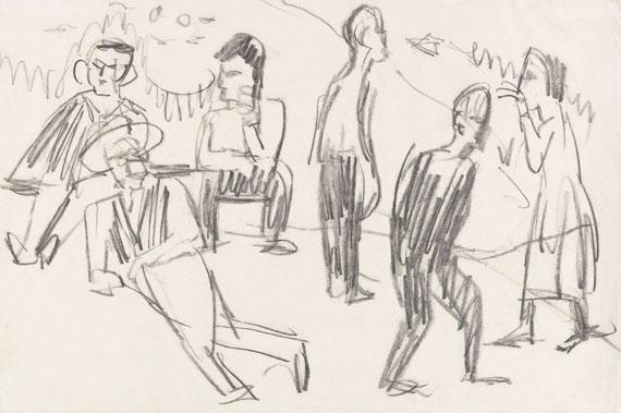 Ernst Ludwig Kirchner - Bauern auf der Alp bei Davos