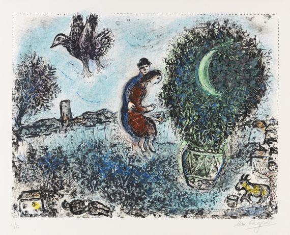 Marc Chagall - La Lune dans le Bouquet (Der Mond im Blumenstrauß)