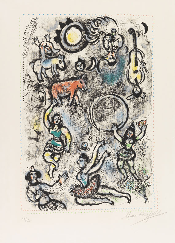 Marc Chagall - Les Saltimbanques (Die Gaukler)