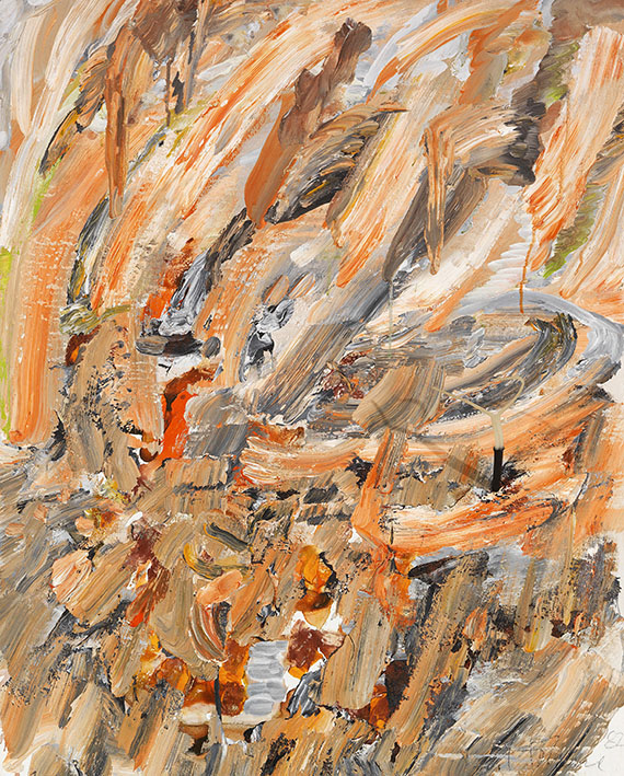 Gerhard Hoehme - Im Zentrum des Aufruhrs (Etna-Bild)