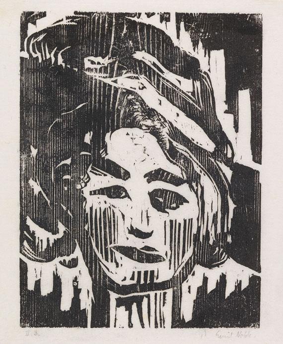 Emil Nolde - Junges Mädchen II