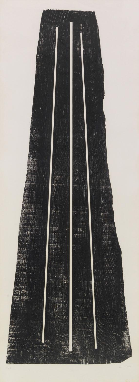 Hans Hartung - Gemeinschaftsarbeit mit Anna-Eva Bergman (1909-1987). H1973-24 / GB 42 1-1973 (2-teilig) -
