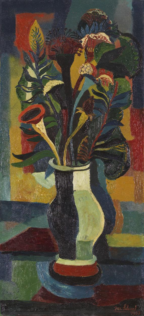 Josef Scharl - Blumen in einer bauchigen Vase