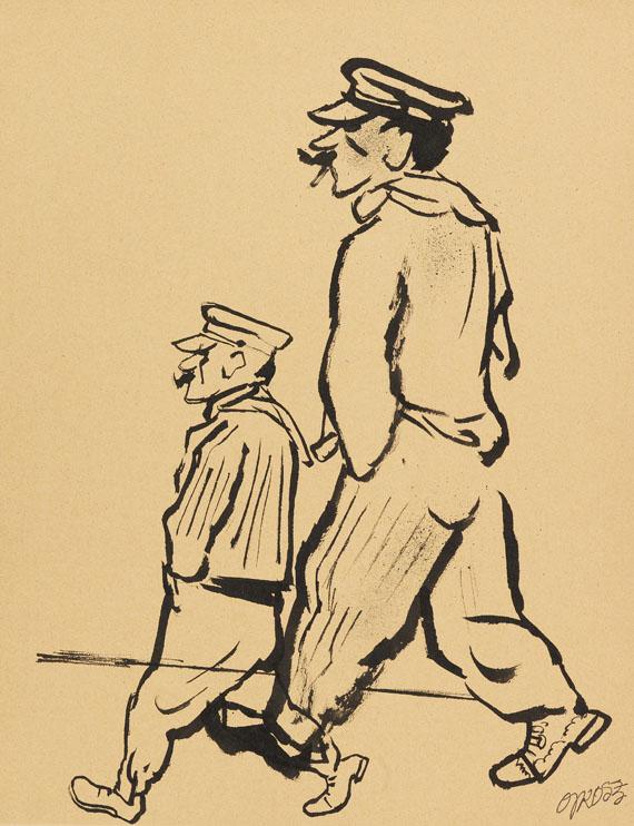George Grosz - Französische Fischerleute