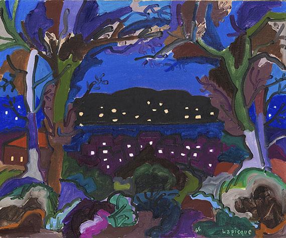 Charles Lapicque - Crépuscule au bord d'un lac