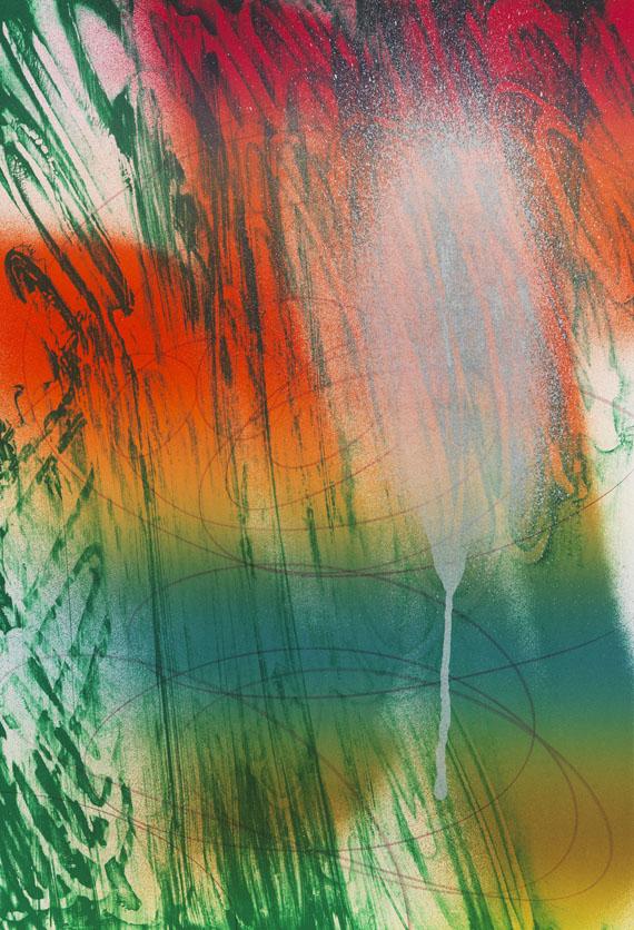 Katharina Grosse - Fo` Faux Rocks (Folge von 4 Blatt) -