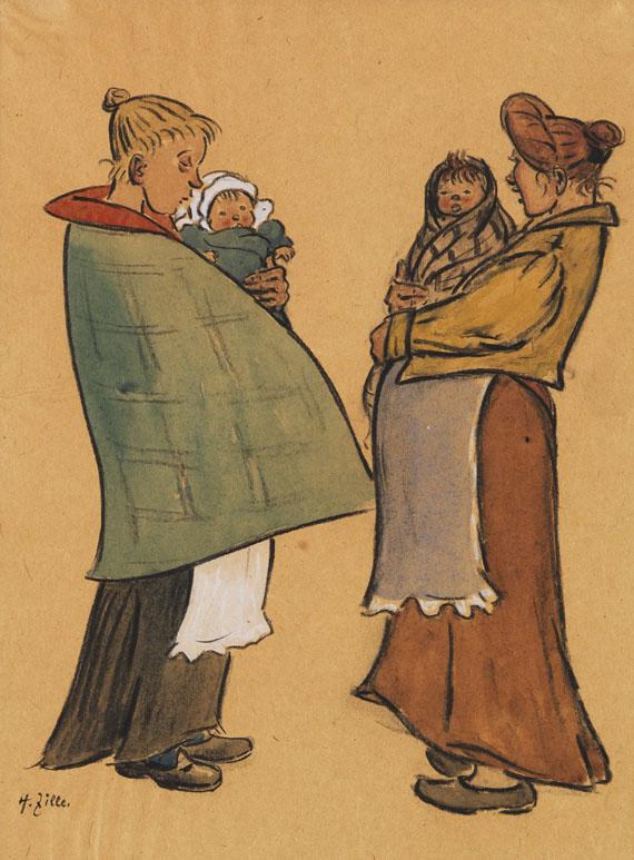 Heinrich Zille - Zwei Mütter