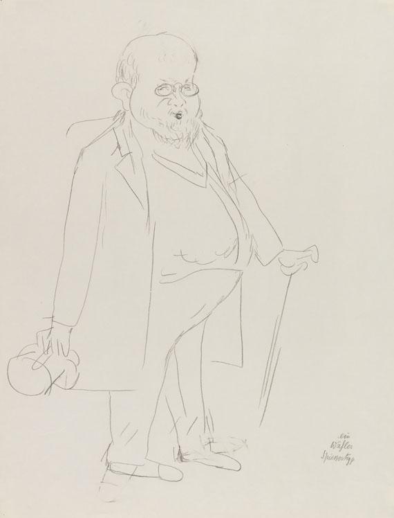 George Grosz - Ein Wähler. Spiessertyp