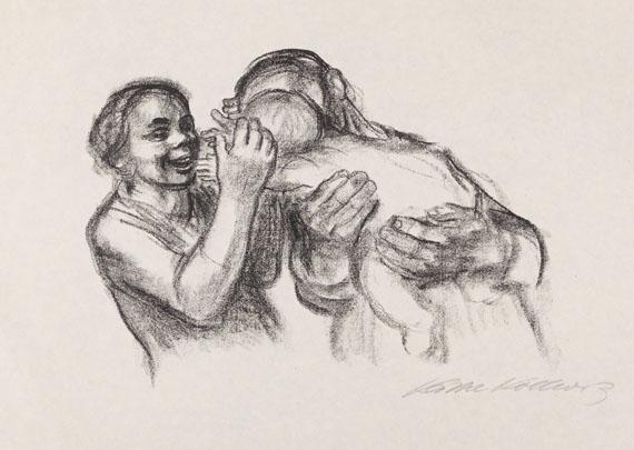 Käthe Kollwitz - Eltern mit Kind