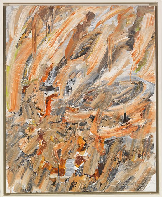 Gerhard Hoehme - Im Zentrum des Aufruhrs (Etna-Bild) - Rahmenbild