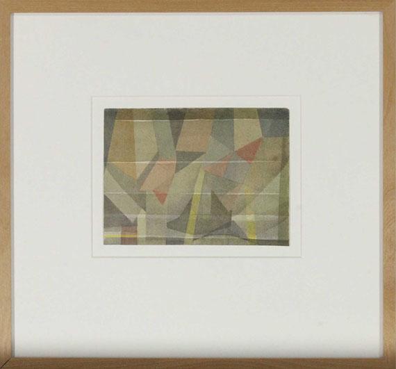 Rudolf Jahns - Landschaft im Nebel - Rahmenbild