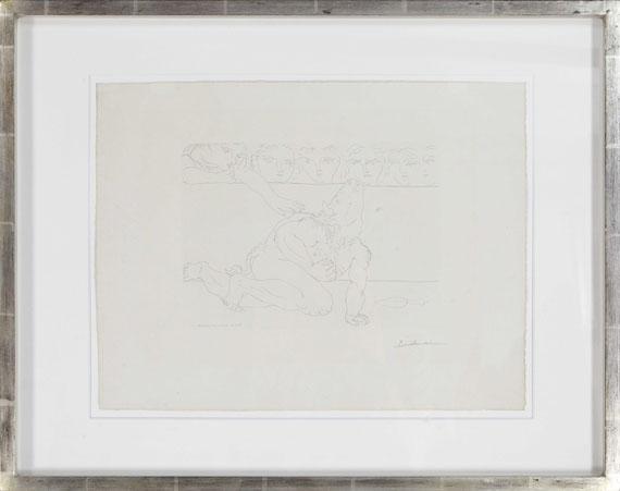 Pablo Picasso - Minotaure mourant et jeune femme pitoyable - Rahmenbild