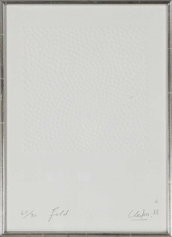 Günther Uecker - Feld - Frame image